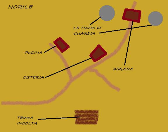 Mappa di Norile