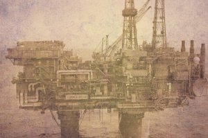 north sea oil platform -1