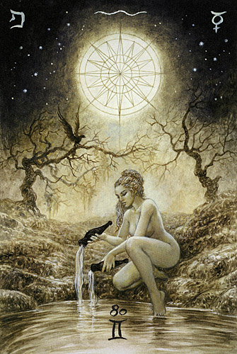 luis royo_the labyrinth tarot_major arcana_the star_med (2)