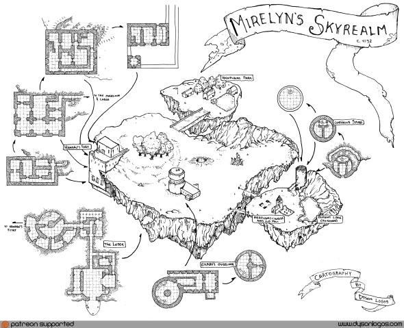 Mirelyn's Skyrealm Complete - B&W